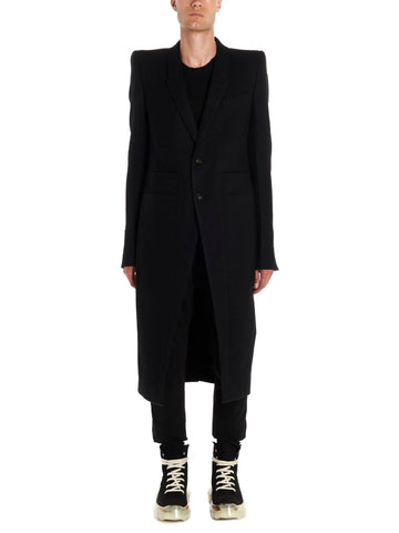 Rick Owens Single Breasted Coat