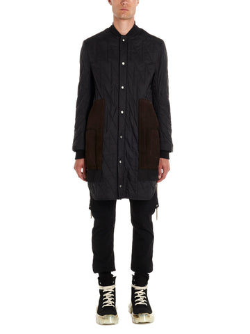 Rick Owens Quilted Button-Up Coat