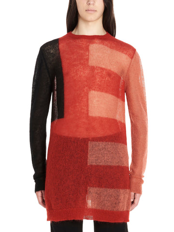 Rick Owens Sheer Colour Block Jumper