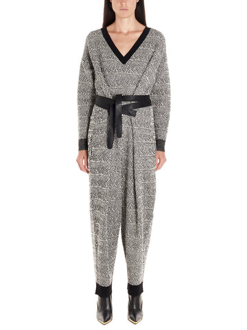 Stella McCartney Knitted V-Neck Jumpsuit