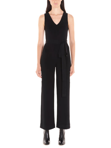 Theory Belted V Neck Jumpsuit