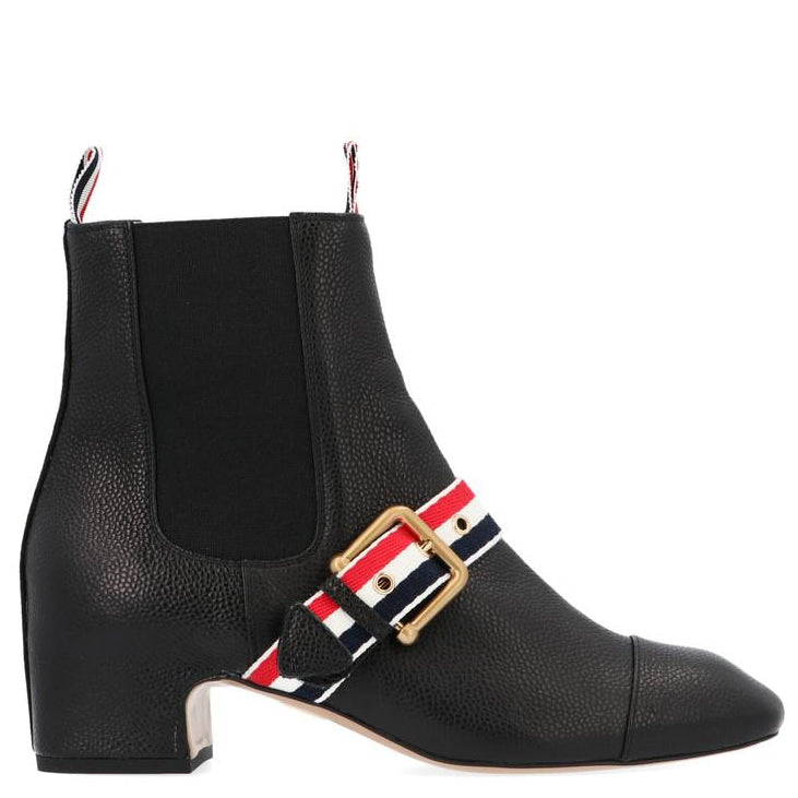 Thom Browne Boots THOM BROWNE STRIPED BUCKLE DETAIL CHELSEA BOOTS