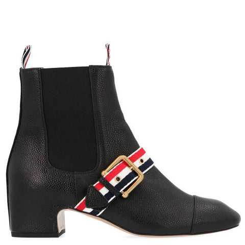 Thom Browne Striped Buckle Detail Chelsea Boots