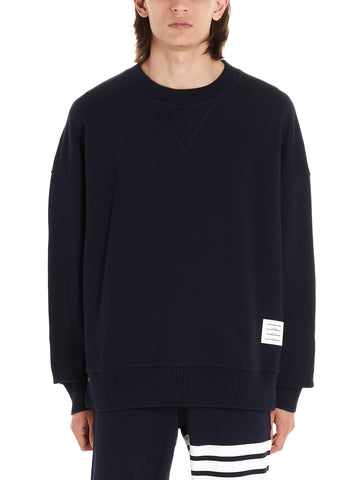 Thom Browne Logo Patch Oversized Crewneck Jumper