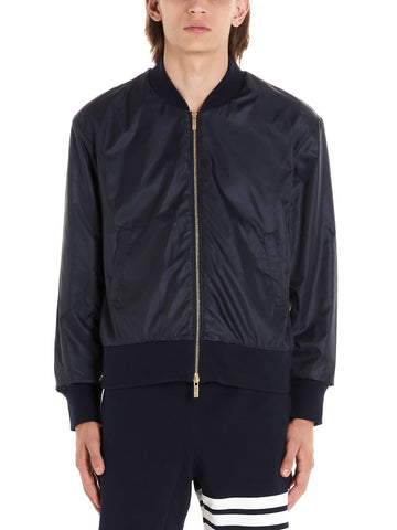 Thom Browne K Way Center Back Stripe Bomber Jacket