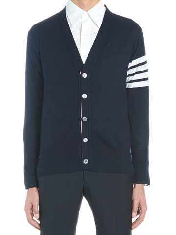 Thom Browne Stripe Detail Knitted Cardigan