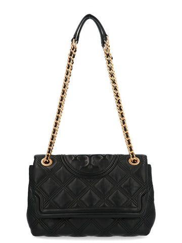 Tory Burch Logo Quilted Shoulder Bag