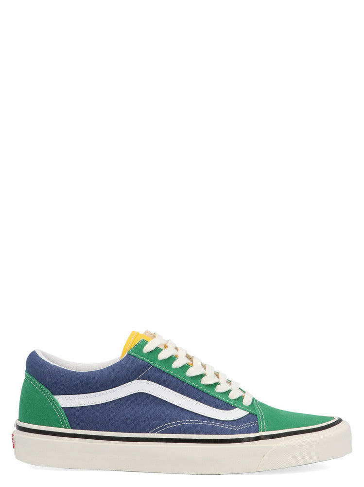 Vans Green And Blue Anaheim Factory Old Skool 36 Dx Sneakers In Grn Ylw Nvy
