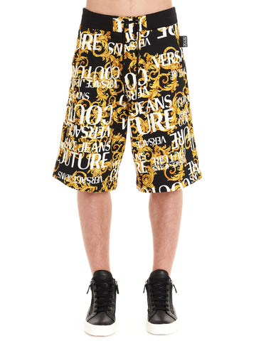 Versace Jeans Couture Barocco Logo Print Bermuda Shorts