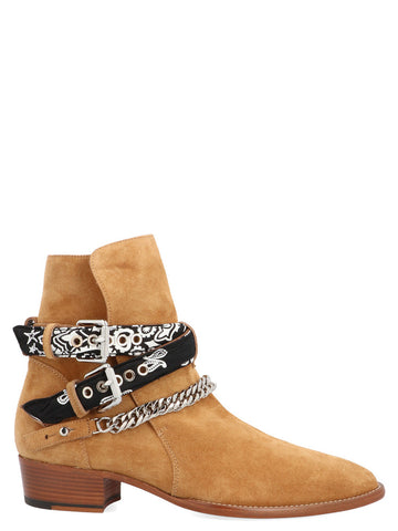Amiri Bandana Detail Buckled Ankle Boots