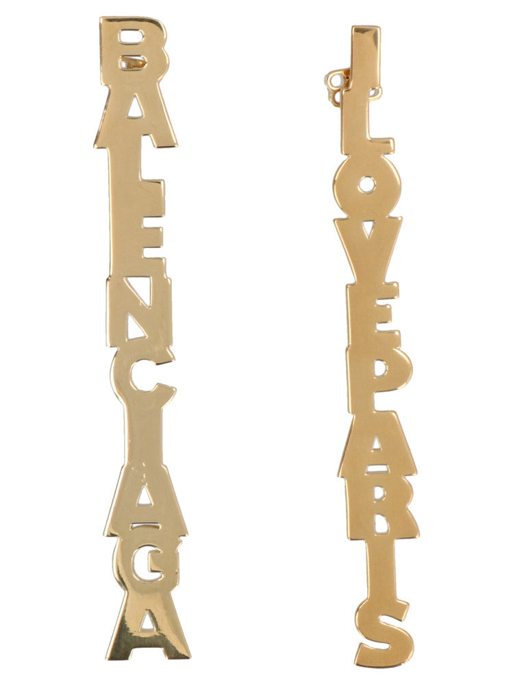 Balenciaga Typo Earrings