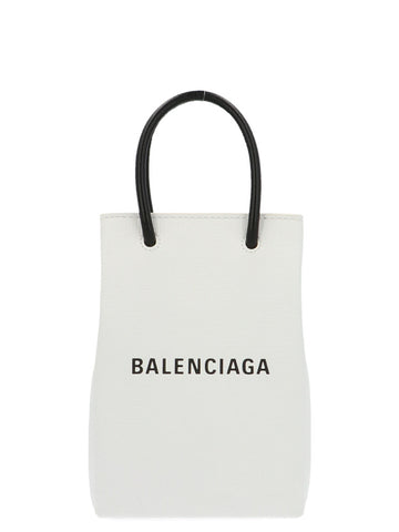 Balenciaga Logo Phone Holder Tote Bag