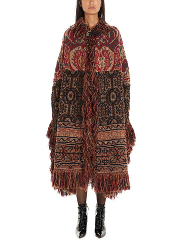Etro Fringed Embroidered Cape