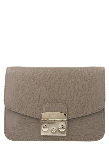 Furla Metropolis Logo Panel Medium Crossbody Bag