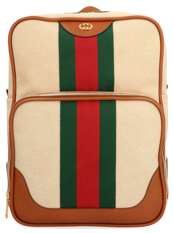 Gucci GG Vintage Striped Backpack