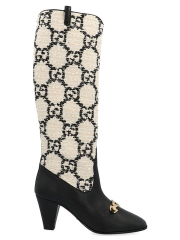 Gucci GG Horsebit Zummi Knee High Boots