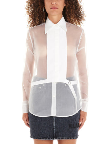 Helmut Lang Detachable Bib Sheer Detail Shirt