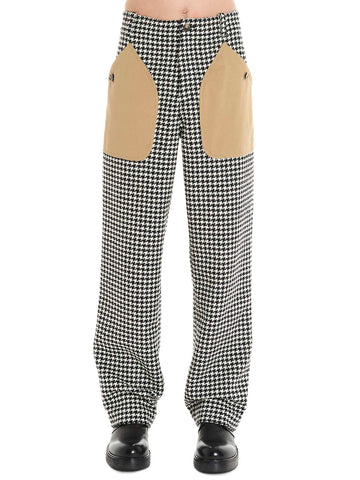 Loewe Houndstooth Print Patch Pocket Trousers