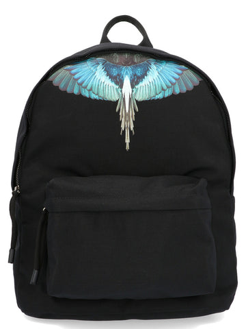 Marcelo Burlon County Of Milan Wings Print Top Handle Zipped Backpack