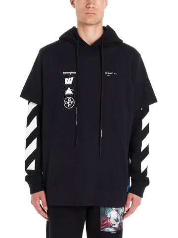 Off-White Graphic Print Layered Hoodie