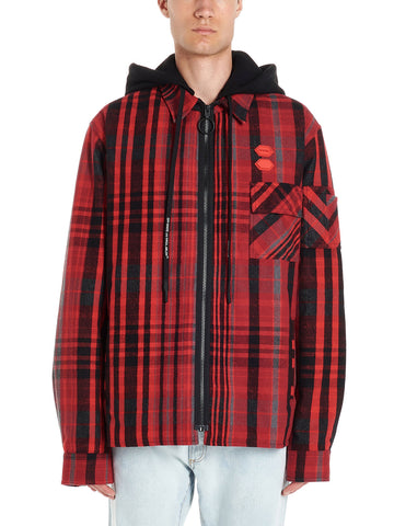 Off-White Checked Hooded Jacket