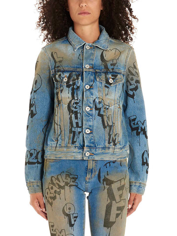 Off-White Graffiti Denim Jacket