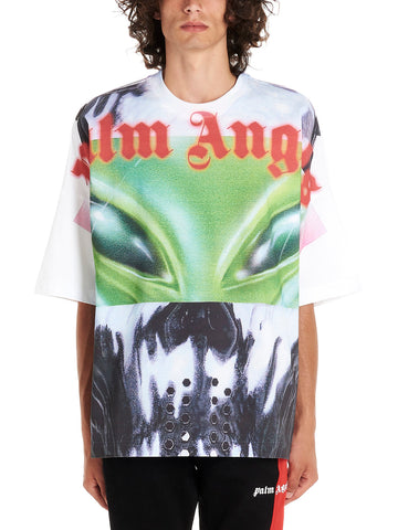 Palm Angels Alien Logo Print T-Shirt