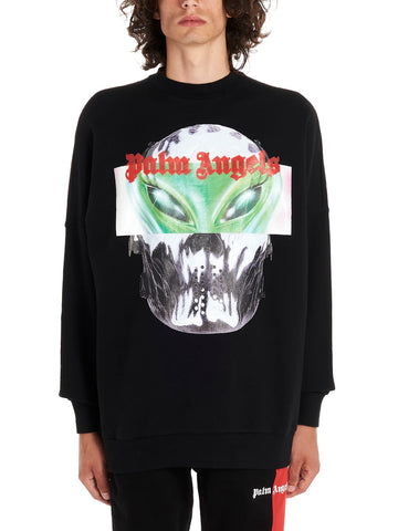 Palm Angels Alien Logo Print Sweater