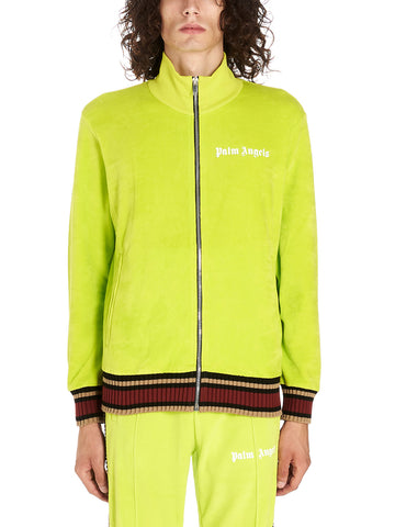 Palm Angels Logo Stripe Detail Zip-Up Track Jacket