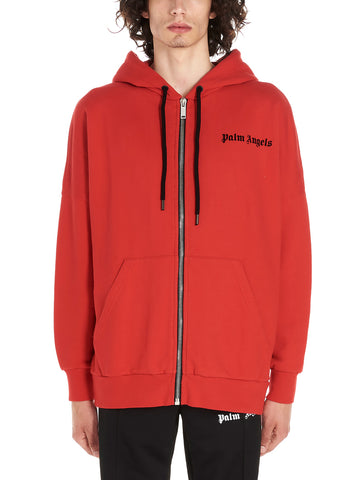 Palm Angels Logo Printed Hooded Jacket