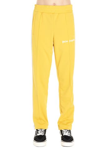 Palm Angels Striped Trim Logo Printed Sweatpants