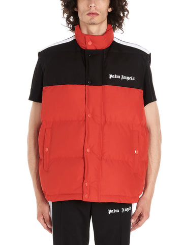 Palm Angels Contrasting Panelled Logo Printed Gilet