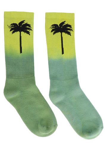 Palm Angels Palm Print Tie Dye Socks
