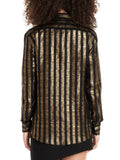Saint Laurent Metallic Striped Shirt