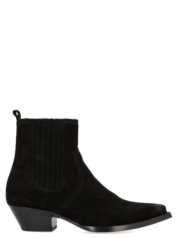 Saint Laurent Lukas Pointed Toe Ankle Boots