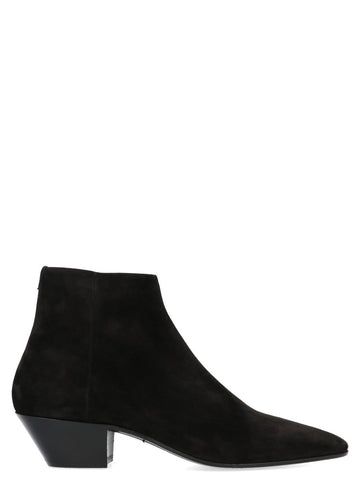 Saint Laurent Jonas Pointed Toe Ankle Boots