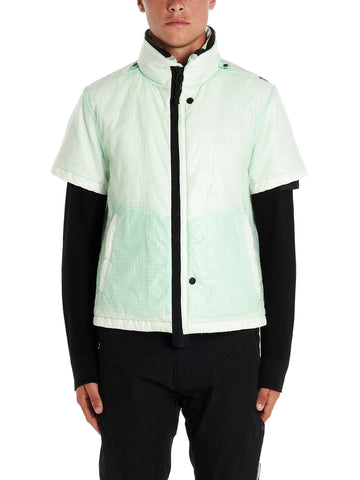 Stone Island Shadow Project Contrasting Trim Hooded Down Jacket
