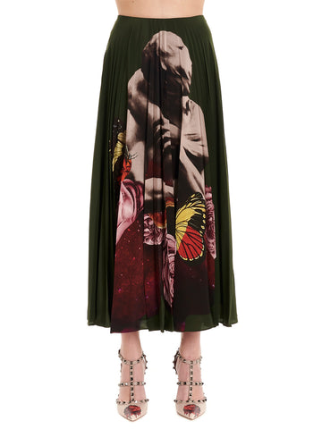 Valentino x Undercover Graphic Printed Pleated Skirt
