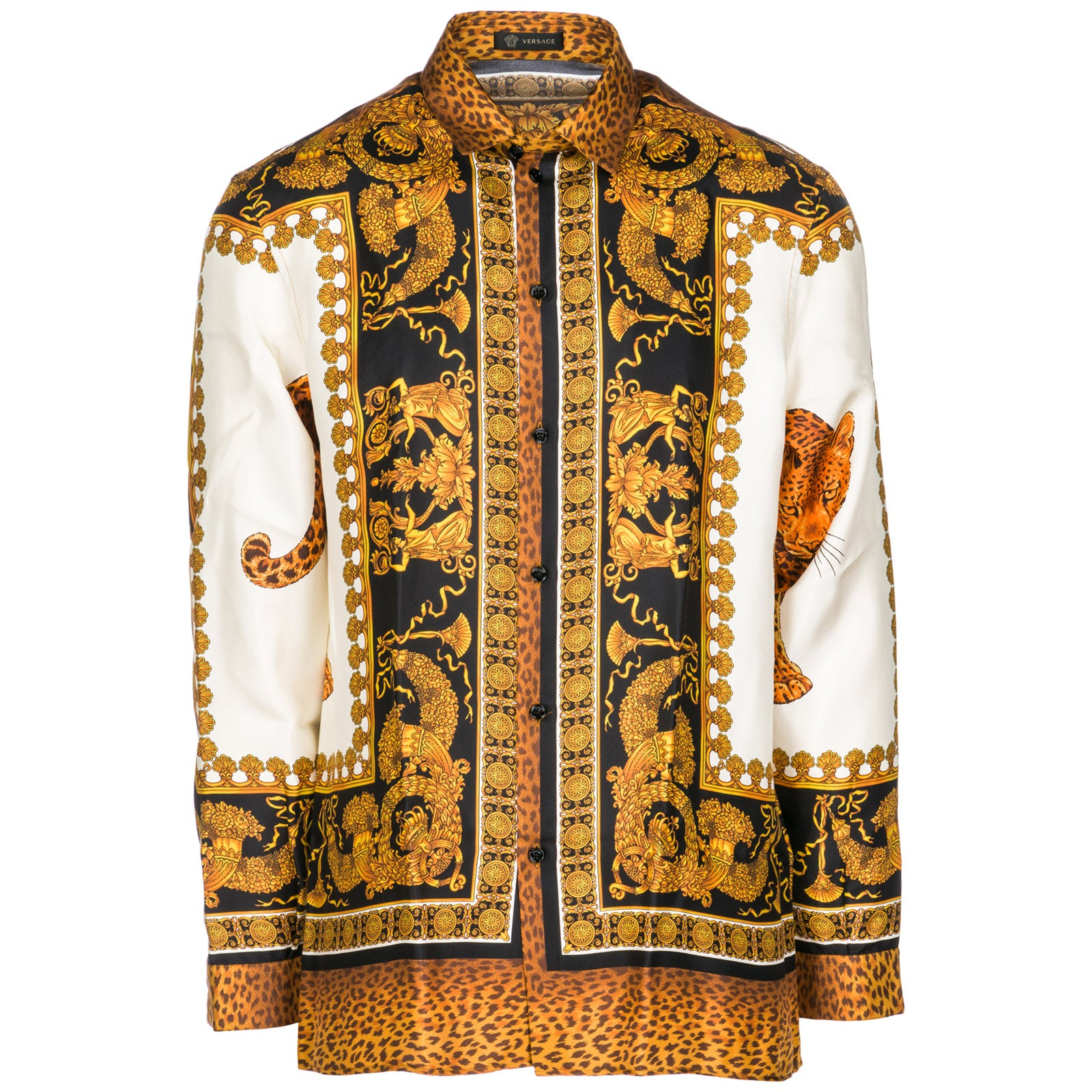 3395fb36 Versace Fluid Fit Baroque Print Silk Twill Shirt In Brown | ModeSens