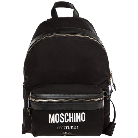 Moschino Couture Courdura Logo Patch Backpack