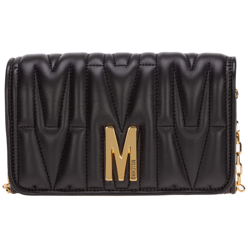 Moschino  MOSCHINO QUILTED CHAIN WALLET