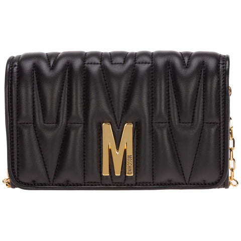 Moschino Quilted Chain Wallet