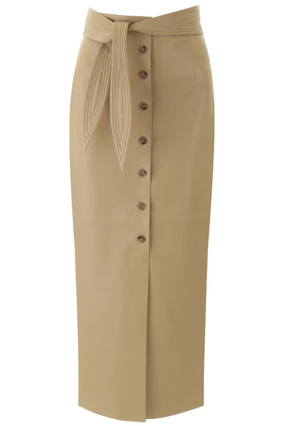 Nanushka Arfen Front Belt Detail Skirt