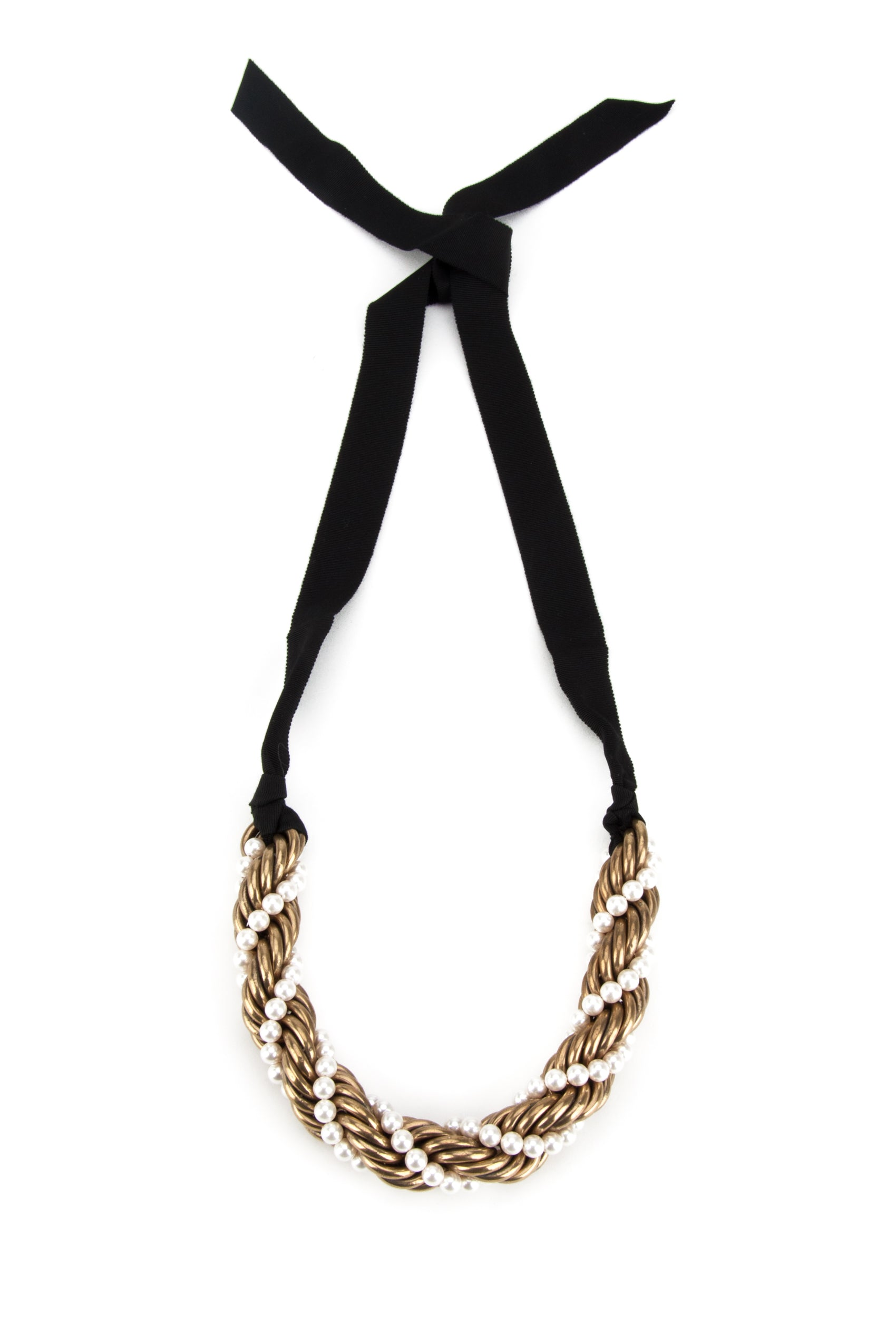 LANVIN TWISTED CONTRAST NECKLACE
