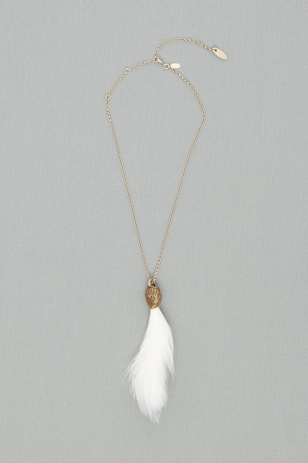 LANVIN SWAN FEATHER NECKLACE