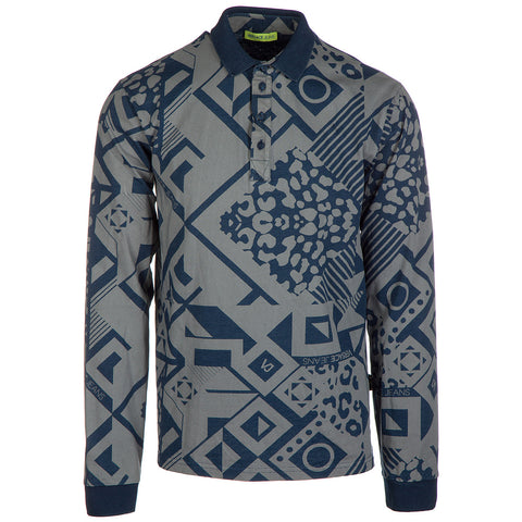 Versace Jeans Patterned Polo Shirt