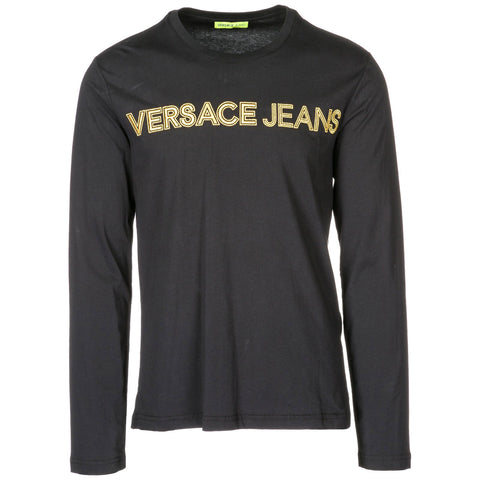 Versace Jeans Embroidered Logo Long Sleeve T-Shirt