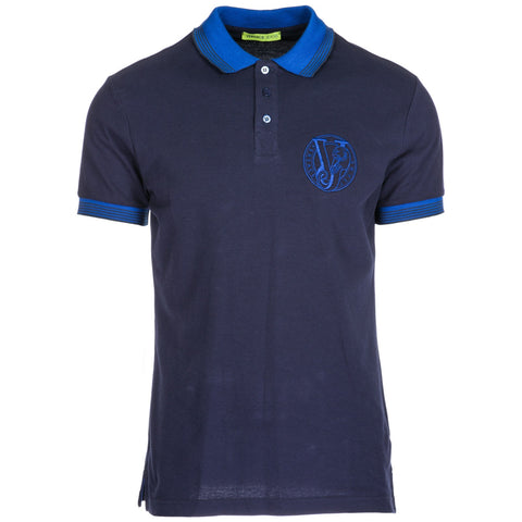 Versace Jeans Embroidered Logo Polo Shirt