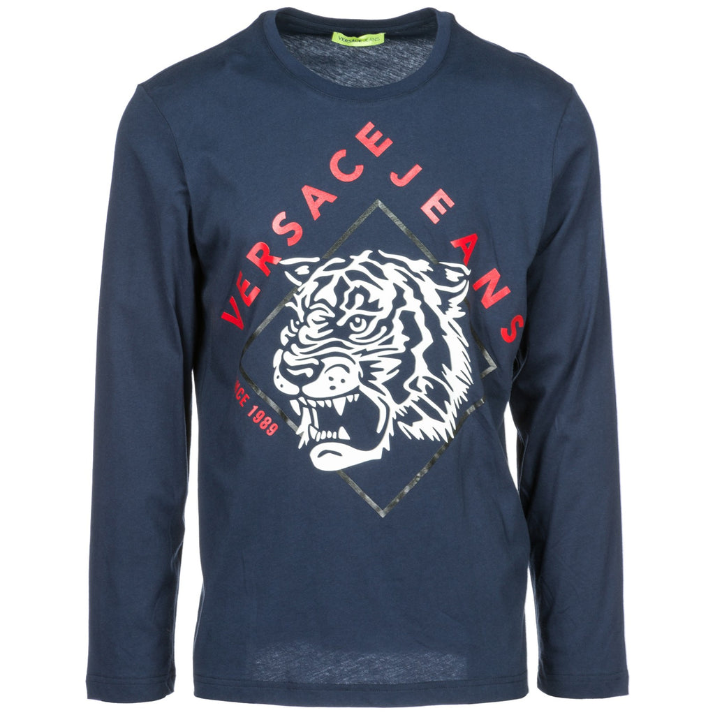 1af5d210 Versace Jeans Tiger Print Long Sleeve T-Shirt – Cettire