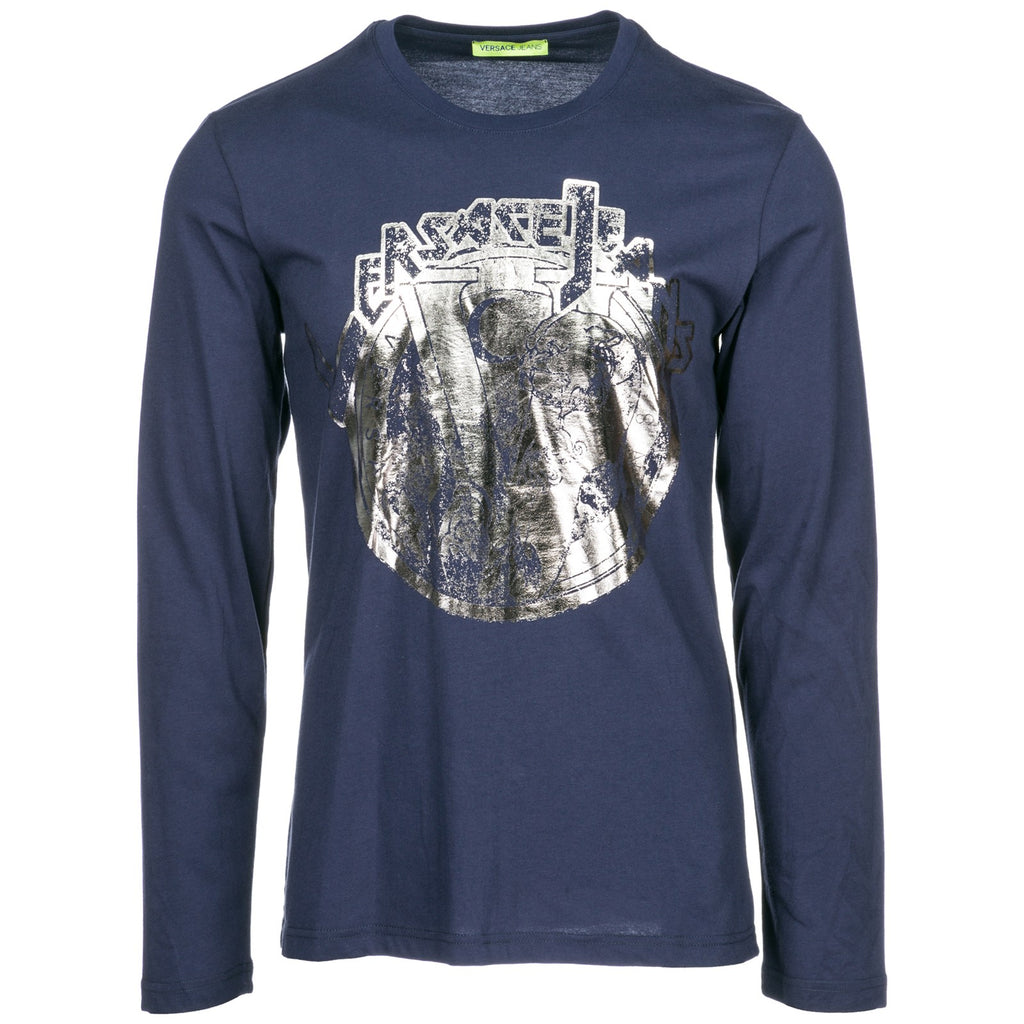 7aab7ff8b7dfb Versace Jeans Graphic Logo Printed Long Sleeve T-Shirt – Cettire
